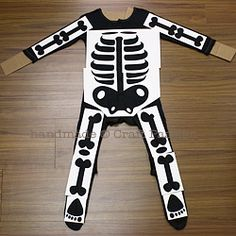 Skeleton stencil. Printable (free) for a costume, but works for a science puzzle too!
