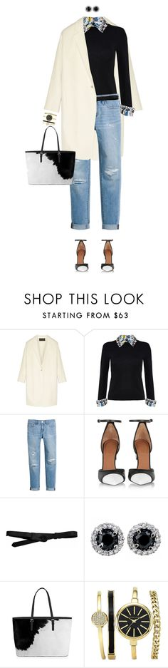 """""""Black And White Shoes"""" by ittie-kittie on Polyvore featuring Donna Karan, Alice + Olivia, White House Black Market, Givenchy, Lowie, women's clothing, women, female, woman and misses"""