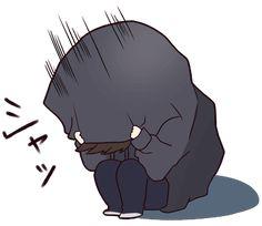 It is a cute sticker of Menhera-kun. Chibi Boy, Cute Anime Chibi, Manga Cute, Chica Anime Manga, Cute Anime Pics, Kawaii Chibi, Cute Anime Boy, Anime Art Girl, Kawaii Anime