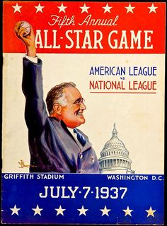 This is the 1937 All-Star Game program--FDR in Griffith Stadium--Washington DC: pic.twitter.com/CVeFBmWr5d