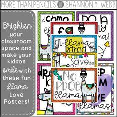 Llama Love Fun Posters {FREEBIE}