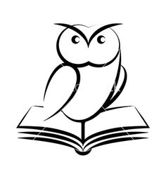 Cartoon of owl and book - symbol of wisdom isolated on white background stock photography Owl Vector, Vector Free, Buho Logo, Owl Tattoo Small, Simple Owl Tattoo, Logo Animal, Illustration Cartoon, Owl Books, Owl Logo