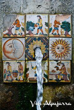 Fuente de la Gaseosa, o del Sol y la Luna. En Ferreirola, La Taha, Alpujarra.  Vive Alpujarra