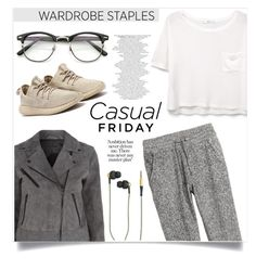 """""""Casual friday"""" by anchilly23 ❤ liked on Polyvore featuring rag & bone, MANGO, H&M and Kreafunk"""