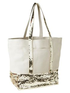 Cute sequin canvas tote for summer!  / gap