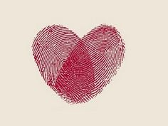Fingerprint hearts! Send some postcard love sometime and literally leave your individual print on paper.