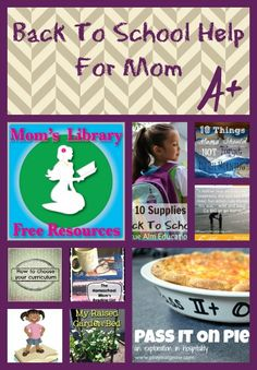 Back to School Help For Mom at Mom's Library 56 - Crystal's Tiny Treasures