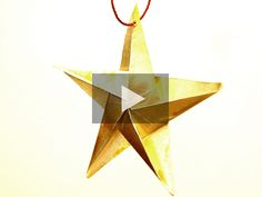 aprende a hacer esta estrella de papel para colgarla del rbol de navidad quedar