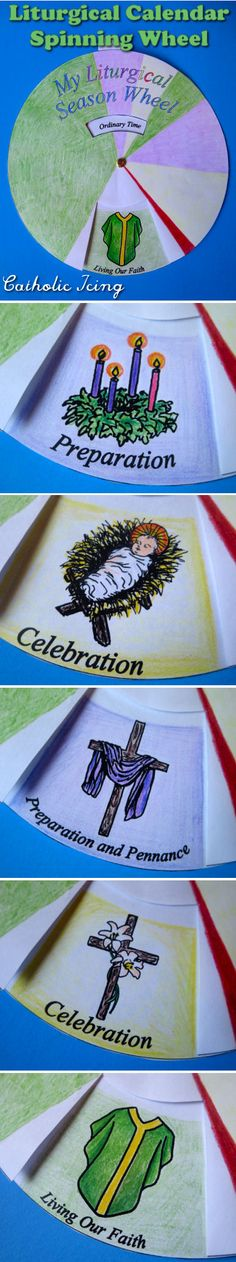 Liturgical+Wheel+Craft:+A+rotating+Liturgical+calendar.+Printable+in+black+and+white+and+in+color!+:-) More