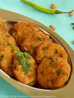 Indian Cuisine: Sweet Corn and Peanut Vada / Fritters Recipe