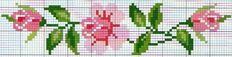 Ricami e schemi a Punto Croce gratuiti: Raccolta di bordi a tema rose