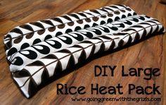 DIY Large Rice Heat Pack - Homespun Aesthetic