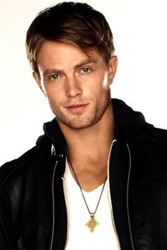 Wilson Bethel, 'cause he's a Southern Bad Boy with a good heart in the show Hart of Dixie and there is no resistance against that.