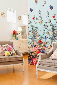 Michelle - Blog #Flowers on the #walls Fonte : http://cornerstore.net.au/shop/rostino-armchair/