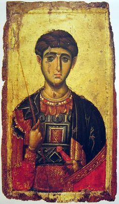 ) Demetrios laminated & mounted icon for wall-Slightly Used-Orthodox Religious Images, Religious Icons, Religious Art, Byzantine Icons, Byzantine Art, Orthodox Calendar, Russian Icons, Medieval Manuscript, Saint George
