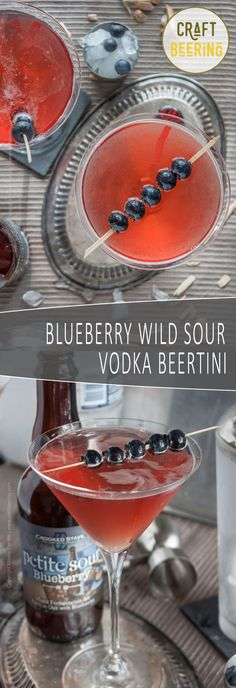 Vodka beertini with oak aged blueberry sour. Forget about Cosmo, the flavors here are unmatched.