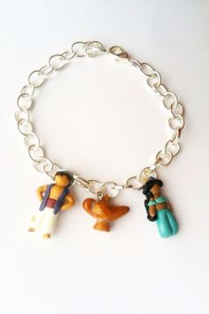 Disney's Aladdin Inspired Clay Charm Bracelet by aWishUponACharm, $10.00