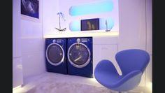 Retro Modern Laundry room | Basically Purple...