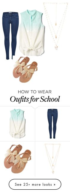 """School day"" by sarah-dishon on Polyvore featuring Gap and Natalie B"