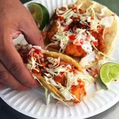Fish Tacos with Chipotle Sauce. You'd be surprised how great the sauce is even over frozen fish stick tacos! Fish Recipes, Seafood Recipes, Mexican Food Recipes, Cooking Recipes, Healthy Recipes, Ethnic Recipes, Tilapia Recipes, Mexican Dishes, Fruit Recipes
