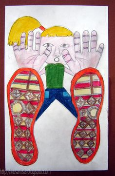 You need: white drawing sheet A4 size colour pencils coloured paper for background Sneakers have beautiful soles; sometimes the soles bette...
