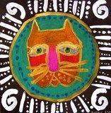 Artsonia Art Exhibit :: Laurel Burch Feline -3