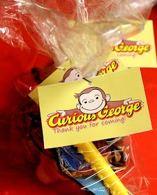 Printable Curious George Favor Tags
