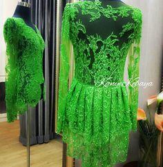 Kebaya Simple, Peplum, Women's Fashion, Traditional, Engagement, Formal Dresses, Blouse, My Style, Green