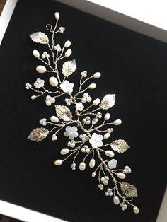 Hairvine de boda woodland  hoja de oro perla accesorio del