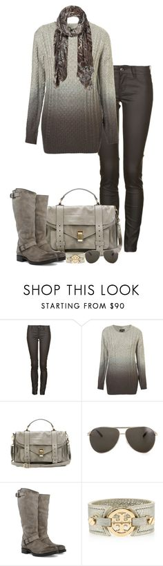 """""""Ombre (III)"""" by partywithgatsby ❤ liked on Polyvore featuring Firetrap, Proenza Schouler, Marc Jacobs, Frye, Tory Burch, AllSaints, ombre, top handle bags, biker boots and aviat"""