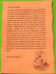 carta del ratoncito perez para imprimir - Buscar con Google