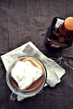Mexican hot chocolate with Cointreau + whipped cream // okie dokie artichokie