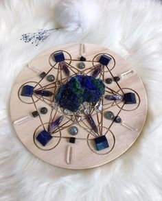 ✨SOLD✨ Excited to share the latest addition to my shop: Enhance Intuition and Mind Power Complete Set of Crystal Grid Crystal Mandala, Crystal Grid, Command And Control, Mind Power, Crystal Decor, Spiritual Awakening, Crystals And Gemstones, Intuition, Witchcraft