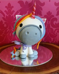 I made this unicorn style oversized topper for my Grandaughrers birthday. I used a foam ball in the head to stop it being too heavy . The design is not my own though , inspiration was taken from a design found on Pinterest. 21st Cake, Cake Toppers, To My Daughter, Unicorn, Birthday, Projects, Inspiration, Design, Style