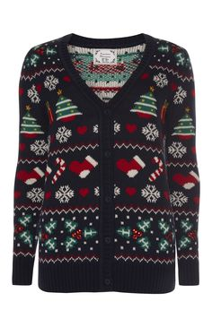 Primark - Navy Knitted Christmas Cardigan