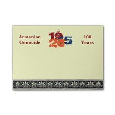 Armenian Genocide Post-it Notes #ArmenianGenocide Go to www.zazzle.com/monstervox for more Armenian Genocide products