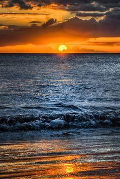 ~~Maui Sunset ~ ocean waves, Hawaii by NealStudios~~