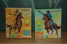 2 wind-up cowboy & Indian figures - boxed #cowboys #toys