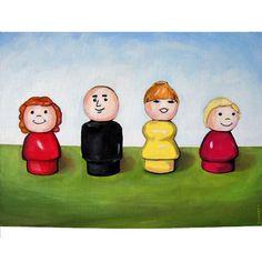 Fisher price little people - on canvas!