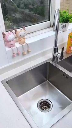 Modern Kitchen Cabinets, Kitchen Items, Kitchen Decor, Kitchen Sink Storage, Kitchen Organisation, Kitchen Space Savers, Home Hacks, Storage Rack, Interior Design Kitchen
