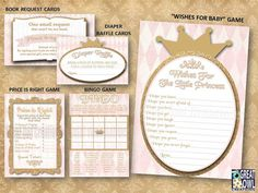 Princess Pink and Gold Baby Shower Party by GreatOwlCreations
