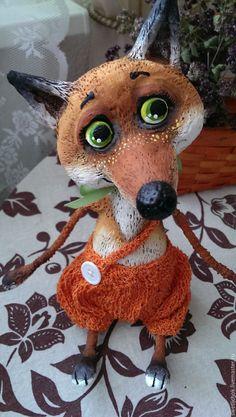 Купить Лисёнок - лисенок, лиса, лис, рыжий лис, оранжевое настроение, авторская игрушка, рыжик