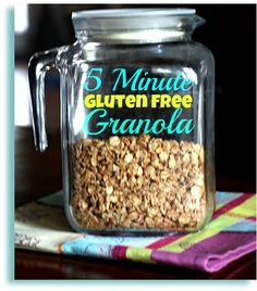 Gluten Free Granola - Nutrient-packed and easy to put together in about 5 minutes!