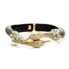 Alexis Bittar - Imperial Kissing Swan Hinged Bracelet |  $227