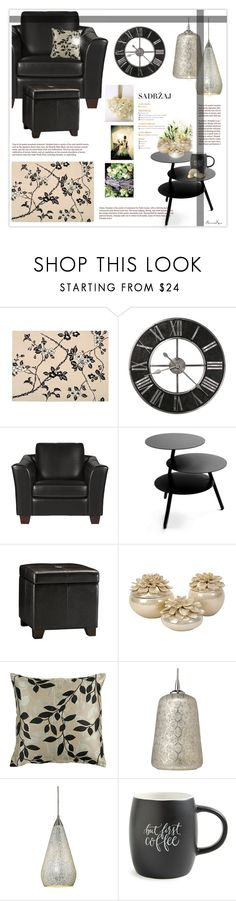 """""""Home Luxuries"""" by nonniekiss ❤ liked on Polyvore featuring interior, interiors, interior design, home, home decor, interior decorating, Pulpo, Jamie Young, ELK Lighting and Printable Wisdom"""