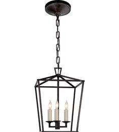 Visual Comfort E.F. Chapman Darlana 3 Light Foyer Pendant in Aged Iron CHC2175AI #visualcomfort #lightingnewyork #lighting