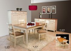 la salle à manger, table rectangulaire