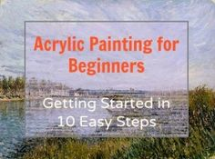 Acrylic paints can essentially replace the quality and color density of oil paints. See the tips and tricks to get your started in painting with acrylics.