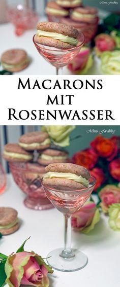 Macarons mit Rosenwasser sind eine kleine, süße Leckerei. Perfekt zum Tee, für ein Kuchenbuffet, zur Hochzeit, bei Taufen oder für den Valentinstag.