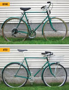 How to Fix Up an Old Bike: Bicycling's designer turned this 1976 Raleigh Sprite into a compliment magnet.